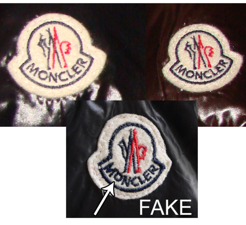 Real vs. Fake Moncler jacket. How to spot fake Moncler.